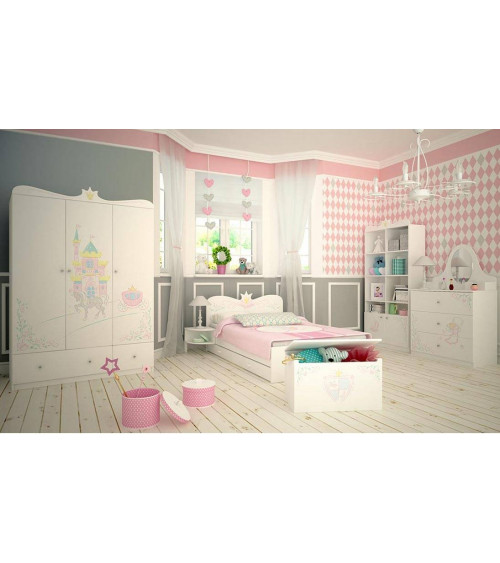 MAGIC PRINCESS Single bunk bed