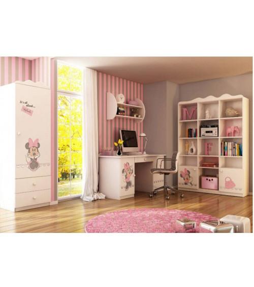 MINNIE MOUSE Bookcase-desk Combination