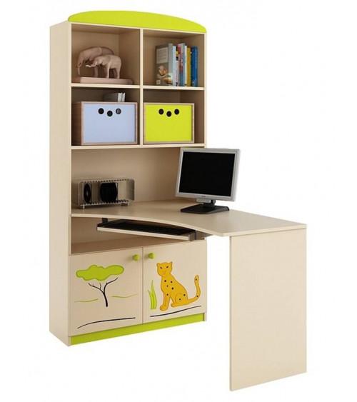 combin biblioth que bureau savannah azura home design. Black Bedroom Furniture Sets. Home Design Ideas