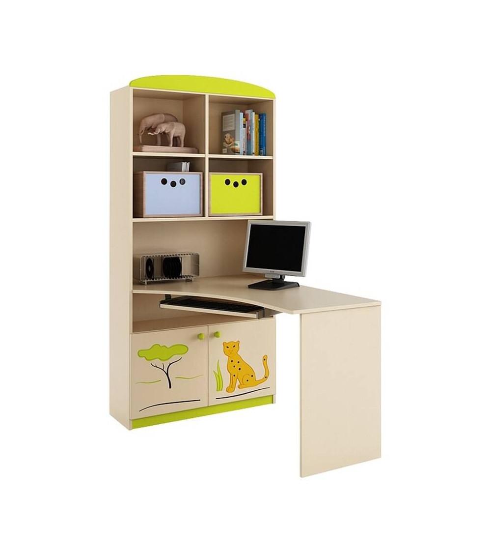 SAVANNAH Bookcase-desk combination