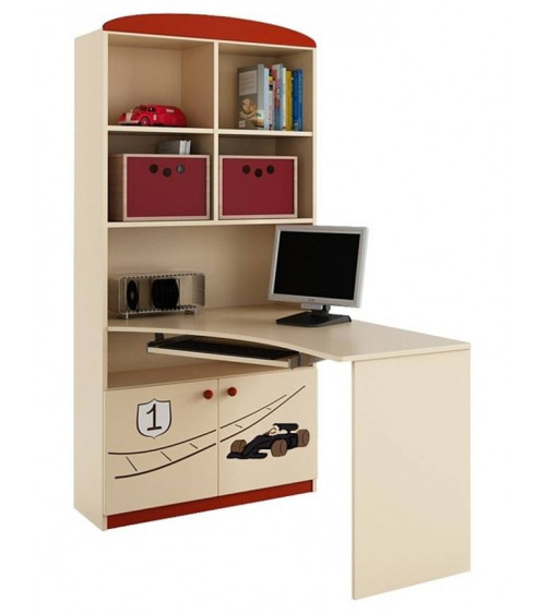 FORMULA 1 Bookcase-desk combination