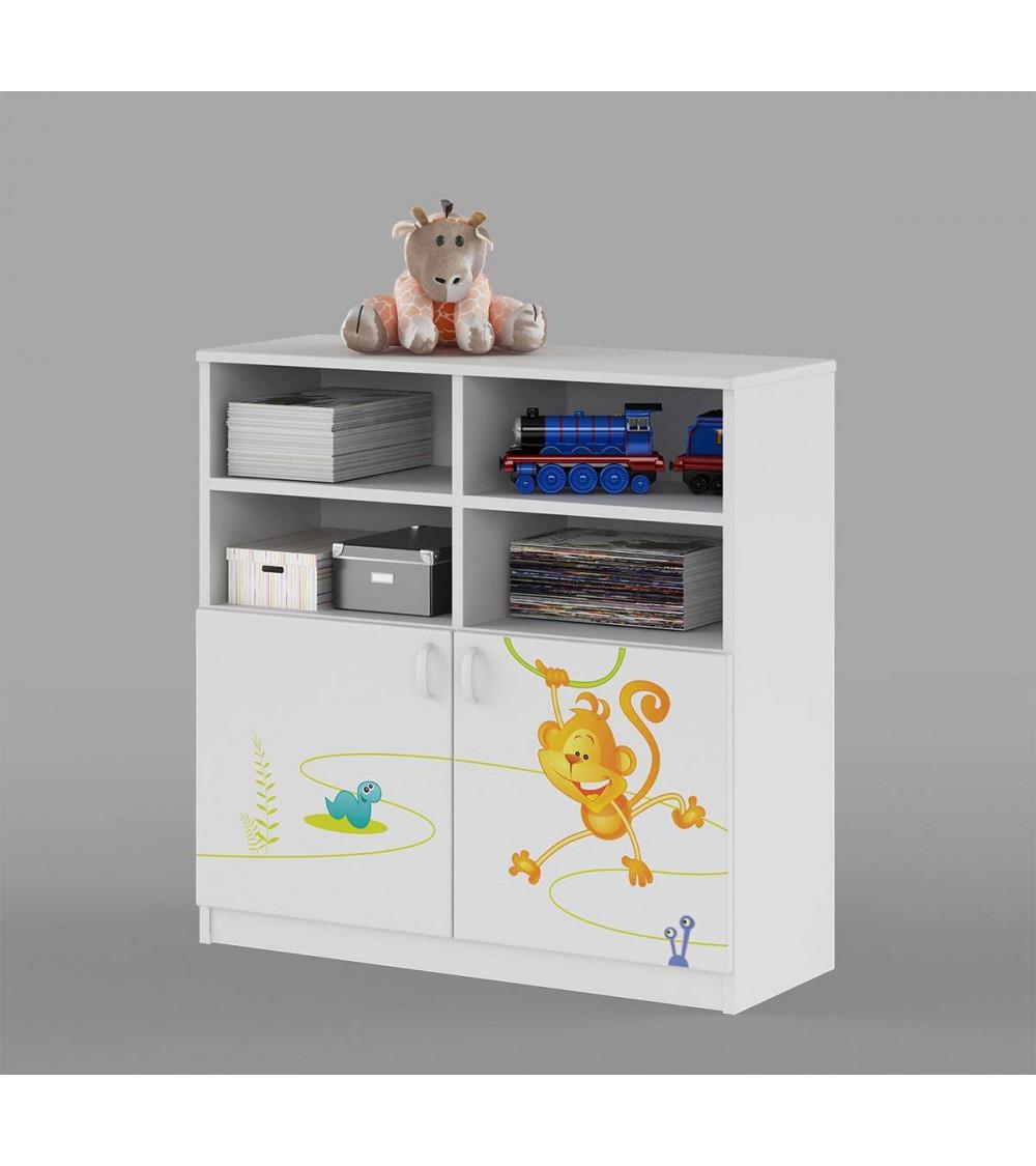HAPPY ANIMALS Bookcase 90 cm,low