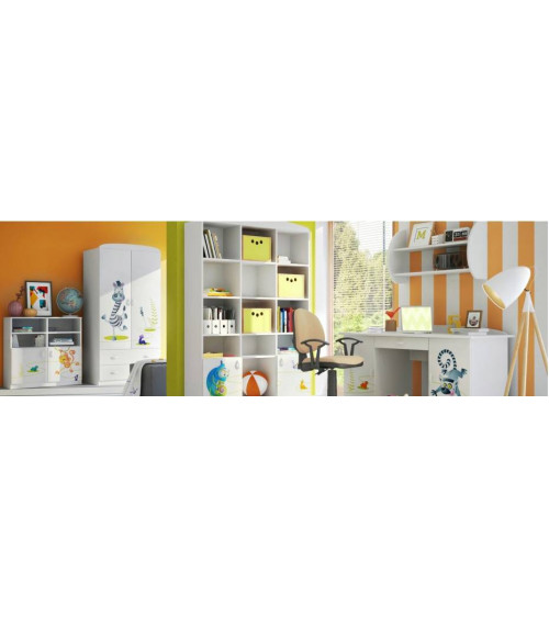 HAPPY ANIMALS Bookcase 90 cm,low