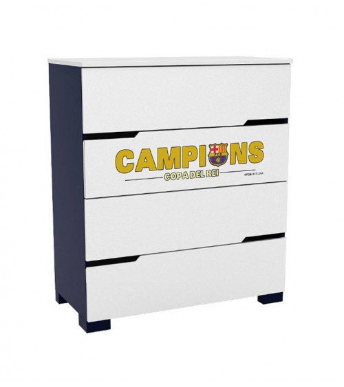 Commode FC BARCELONE, 90 cm, 4 tiroirs