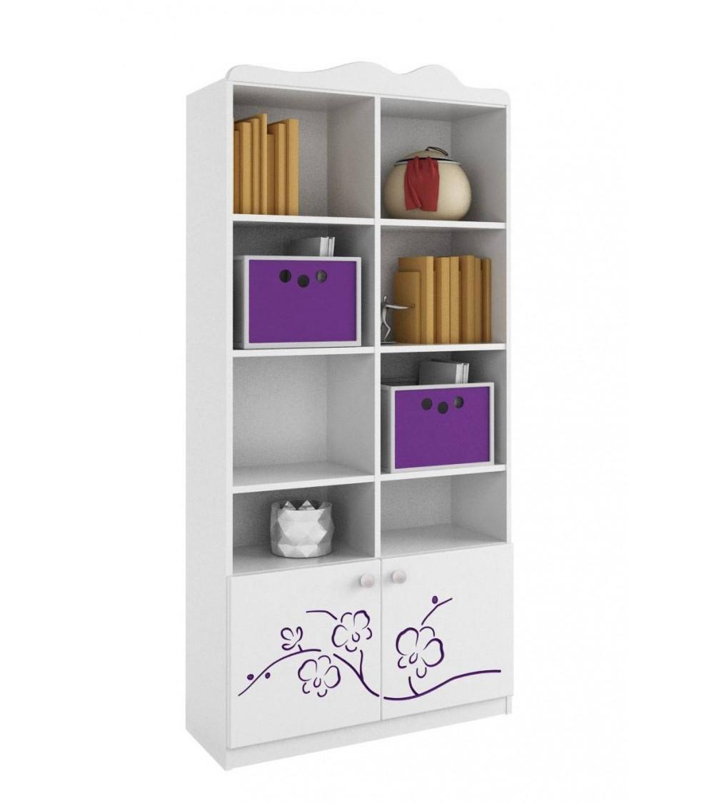 ORCHID VIOLET Bookcase 90cm