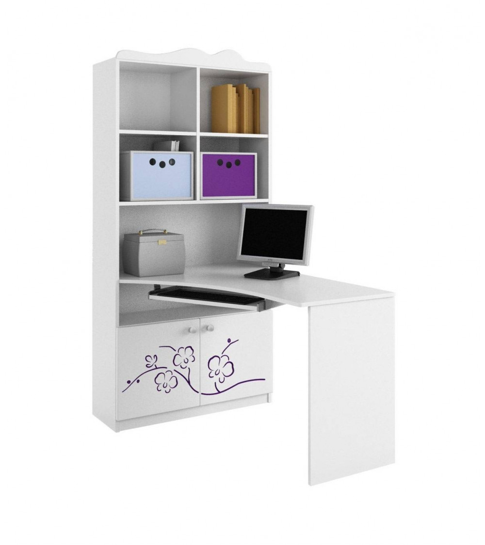 ORCHID VIOLET Bookcase-desk Combination