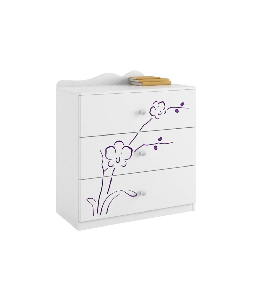 Commode ORCHID VIOLET, 90cm