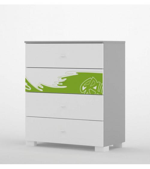 commode graffiti art 90 cm 4 tiroirs azura home design. Black Bedroom Furniture Sets. Home Design Ideas