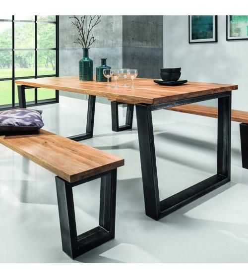Table  BELLINI chêne massif 200cm