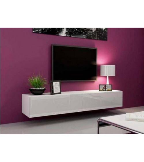 Meuble TV VIGO FULL 180, noir ou blanc