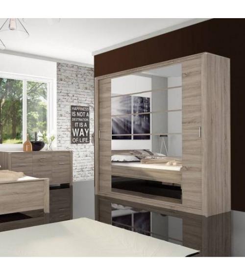 wardrobe EBON OAK 206 x 210 x 64 cm