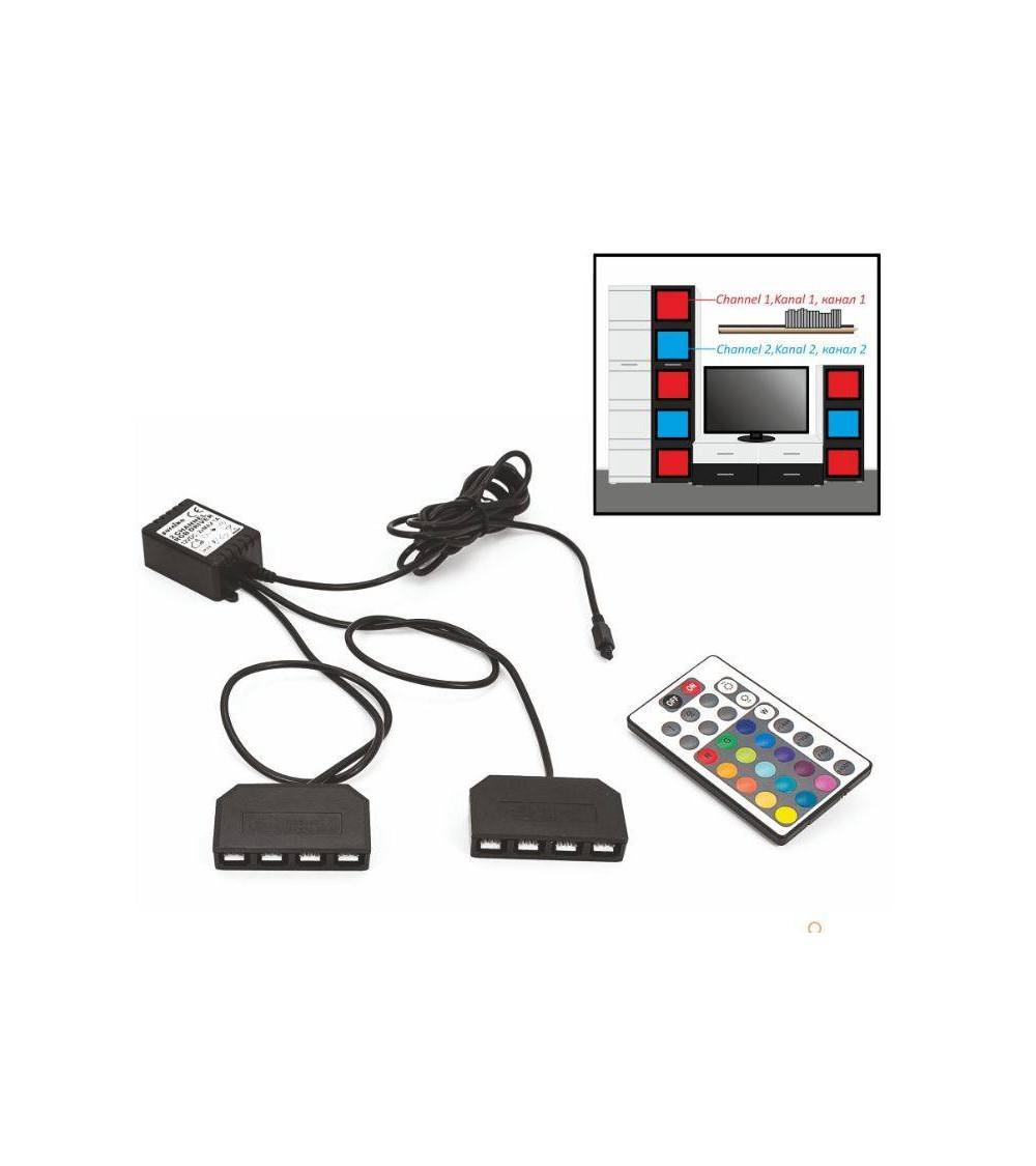 KIT ECLAIRAGE POUR ENSEMBLE TV AVEC TELECOMMANDE
