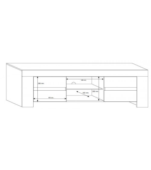 ZEOS TV Storage 190cm , white