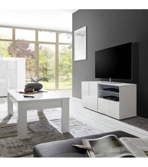 meuble tv dama blanc 121cm. Black Bedroom Furniture Sets. Home Design Ideas