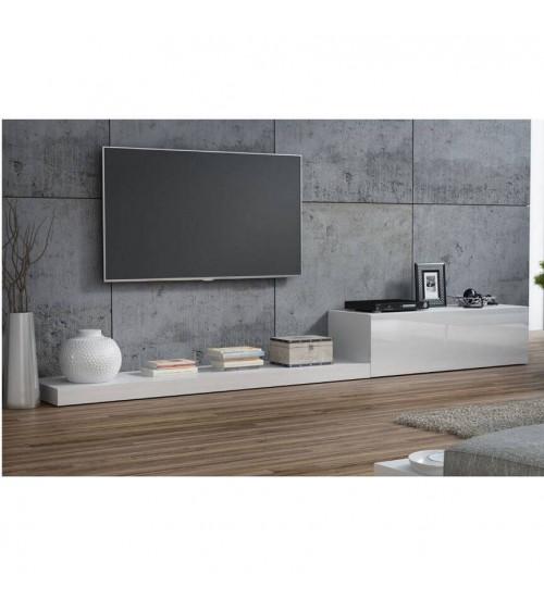 Meuble TV LIFE II 300cm blanc