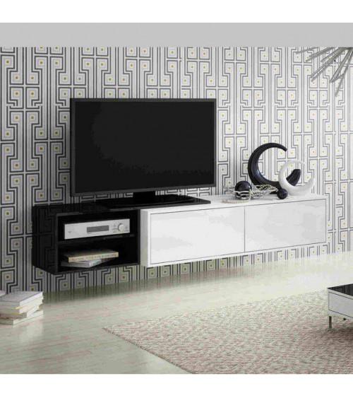 Meuble TV GOTHA noir et blanc