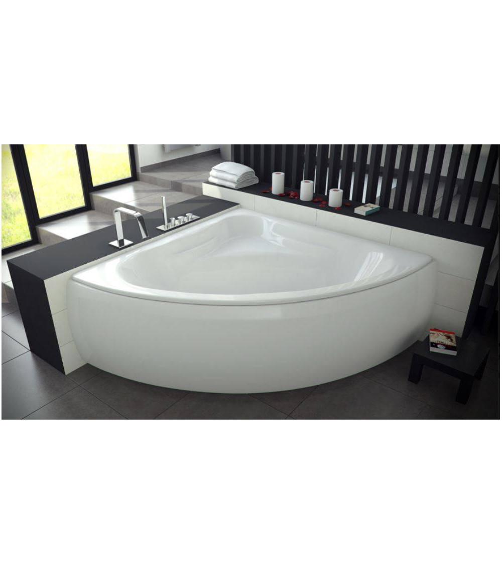 Baignoire musa 140 140 cm baignoire salle de bain design - Baignoire avec tablier ...