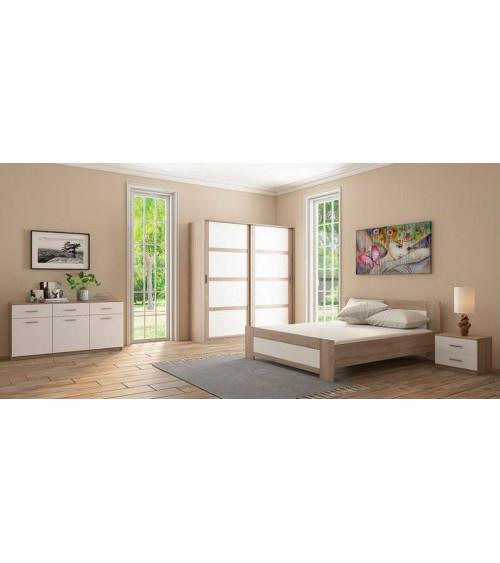 Chambre complète LIVA wengé ou chène clair