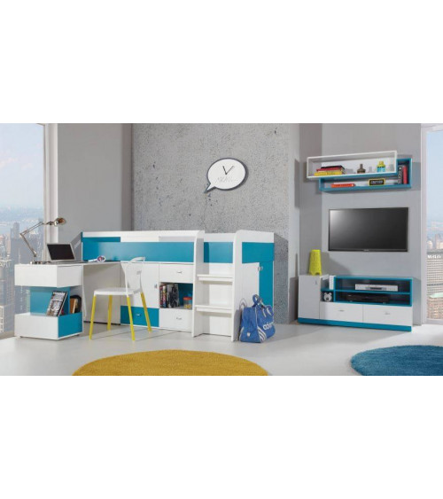 MOBI bunk bed/desk combination , blue
