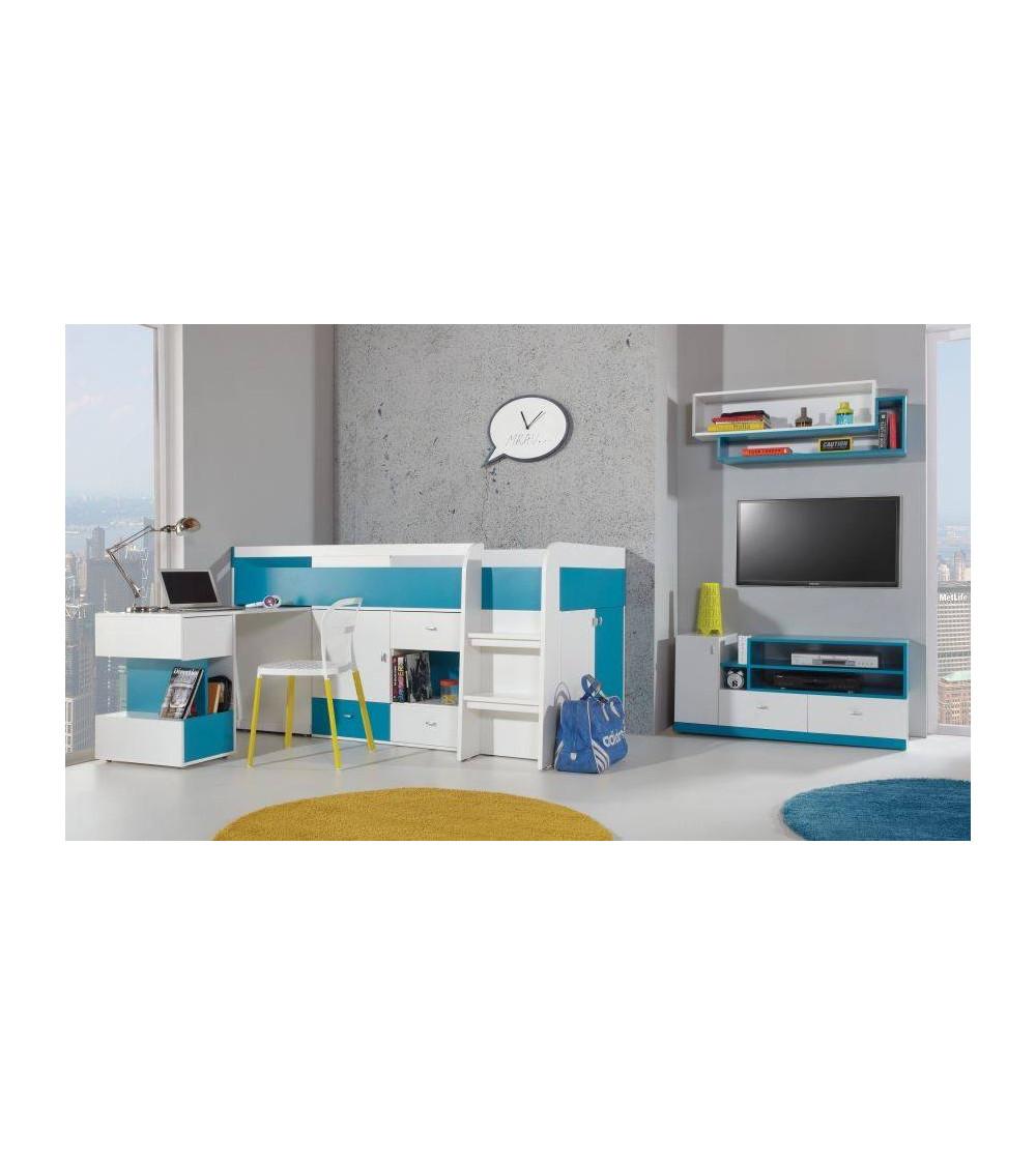Chambre enfant MOBI avec Lit combiné & bureau