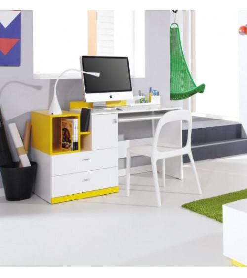 Bureau MOBI  jaune 130cm