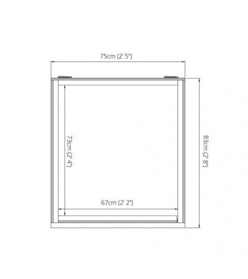 Kinsale garden shed 165x223 cm