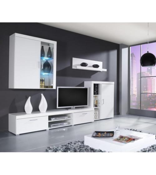 Ensemble meuble TV SAMBA Blanc