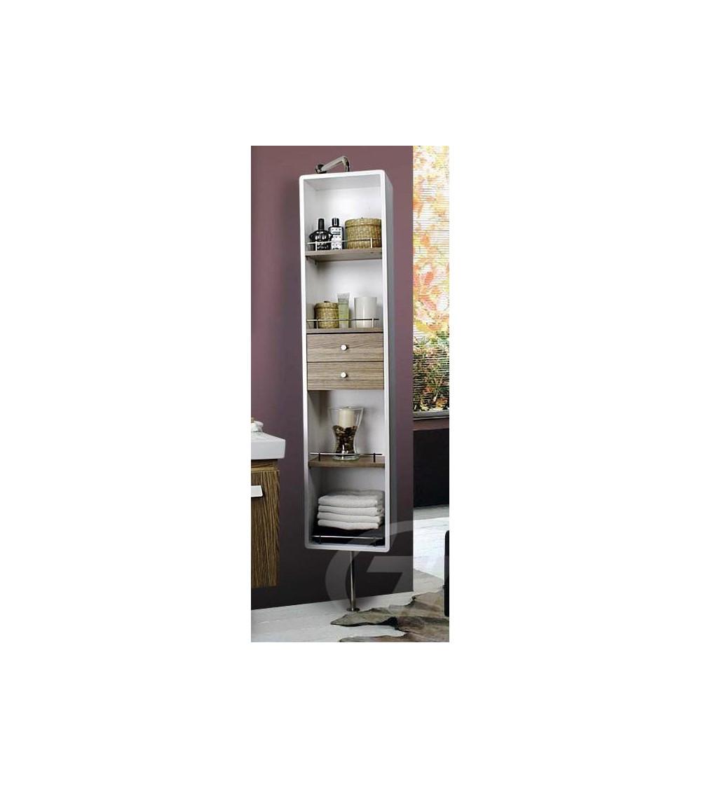 Colonne de rangement amovible meuble salle de bain une for Colonne salle de bain jaune