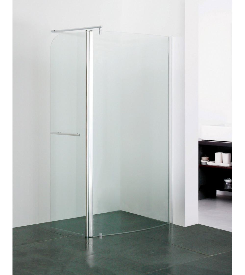 Douche italienne polati incurv 100cm meuble salle de bain d coration sall - Cabine de douche al italienne ...