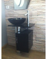 MANRESA Bathroom Furniture, black