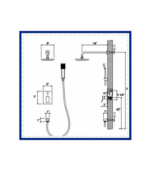 BODEN designer concealed shower mixer tap
