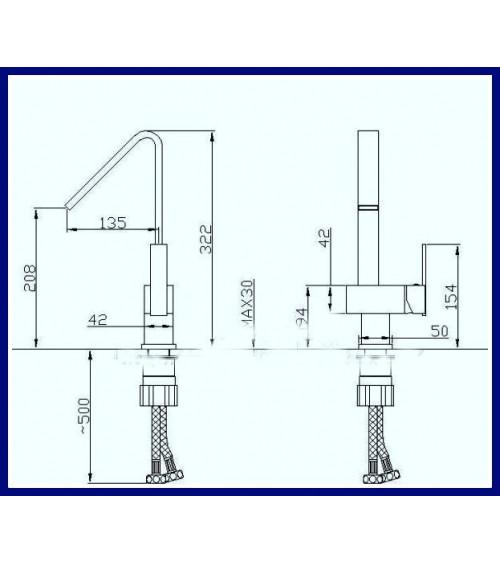AHUS designer basin mixer tap