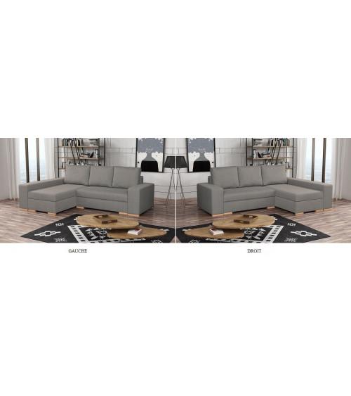 Canapé d'angle convertible réversible VALOREM 262 x 169 x 93 cm