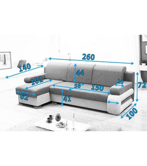 Canapé d'angle gary