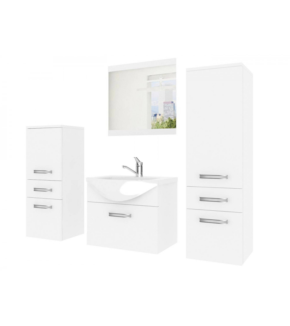 Meuble salle de bain Fine Blanc
