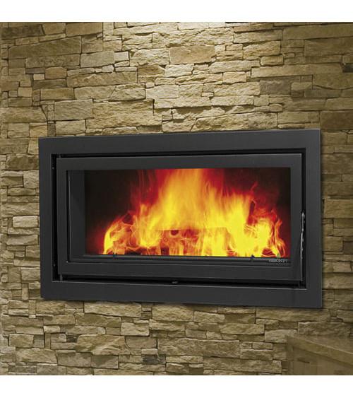 Insert cheminée à bois BARACOA avec turbine 21 kW