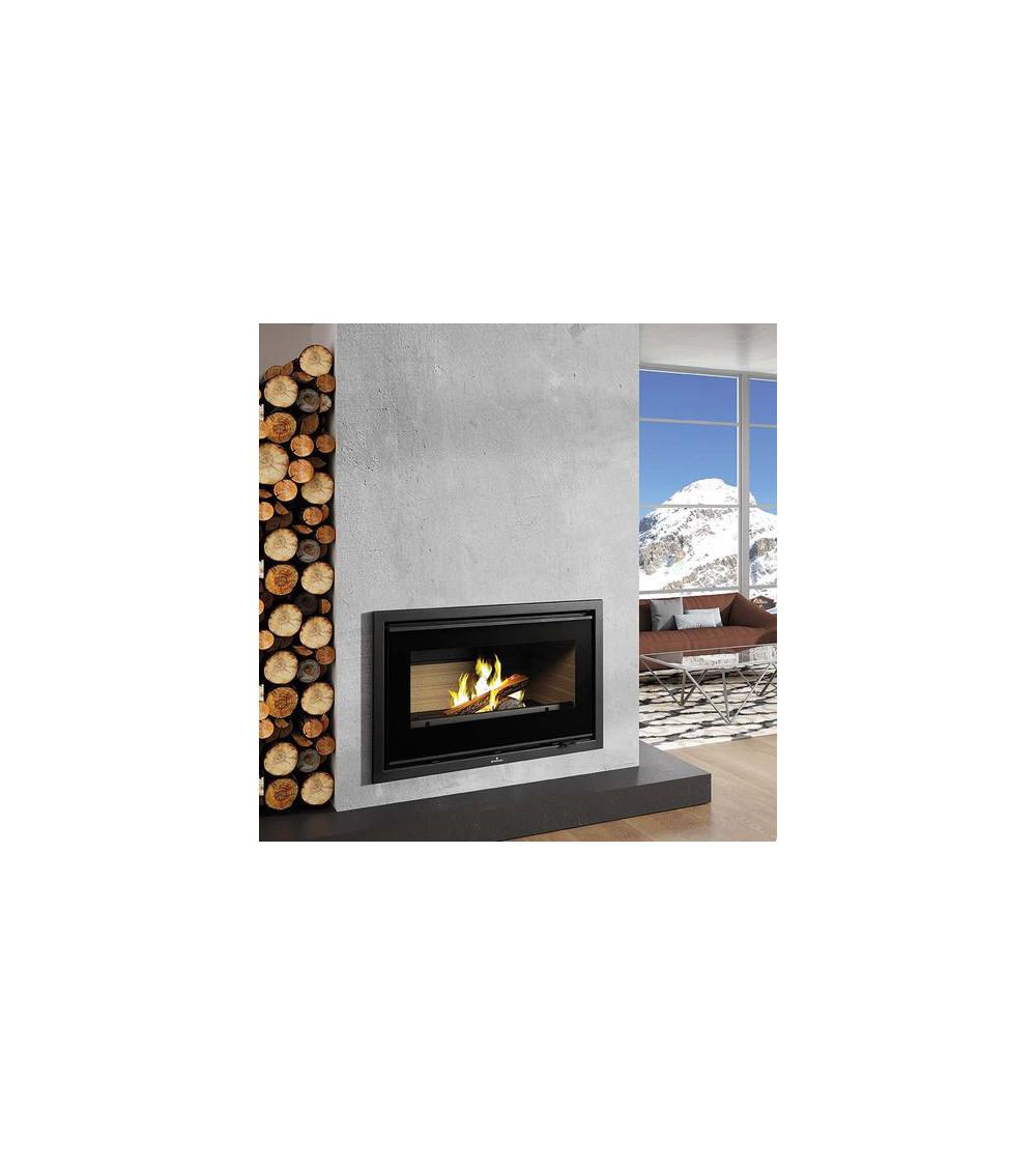 Insert cheminée à bois FLORIDA avec turbine 14,5 kW