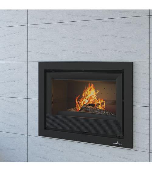 Insert cheminée à bois à bois Holguin avec turbine 9,5 kW