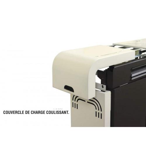 Poêle à pellet slim CAPIATA 9 kW noir et blanc