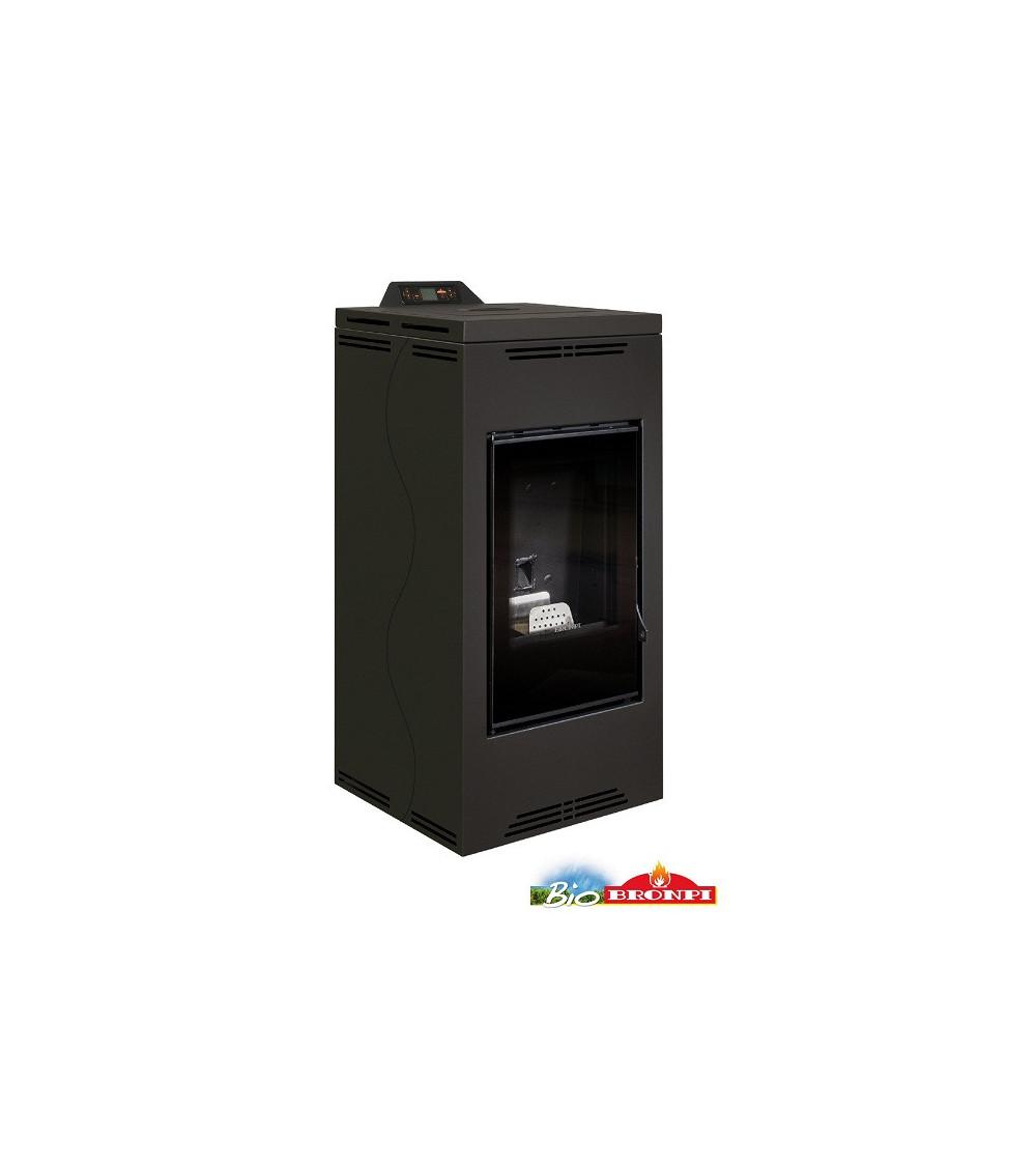 Thermo-poêle à pellets YUKON 16 kW noir
