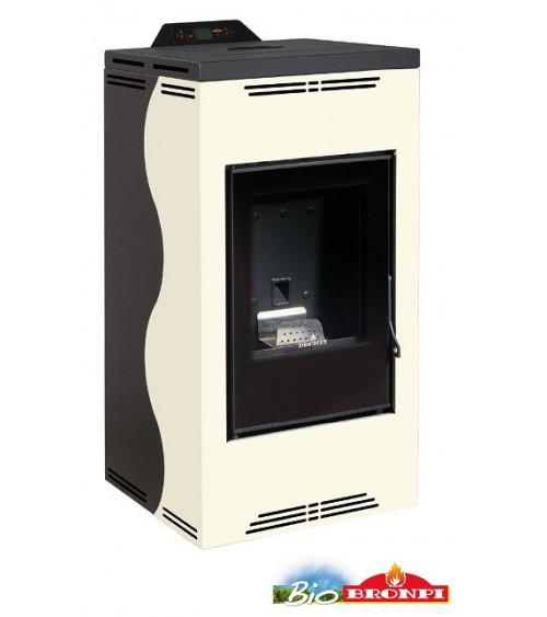 Thermo-poêle à pellets YUKON 16 kW beige