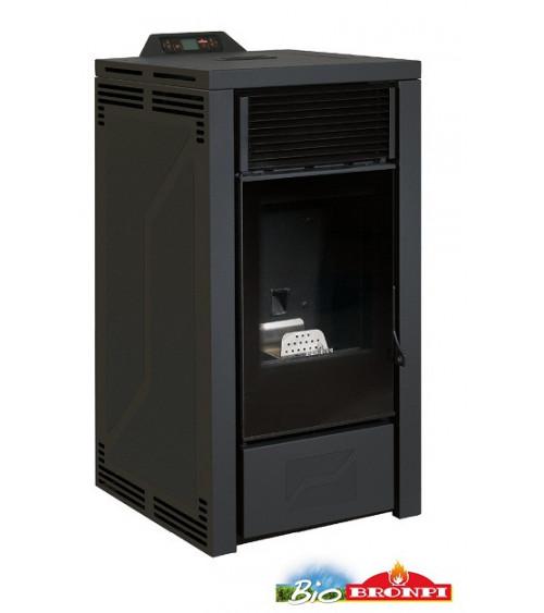 Thermo-poêle à pellets ALBERTA 16 kW noir