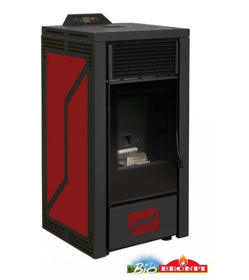 Thermo-poêle à pellets ALBERTA 16 kW bordeaux