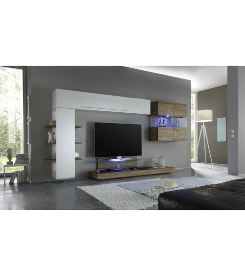 Ensemble meuble tv CESANO miel 342 cm