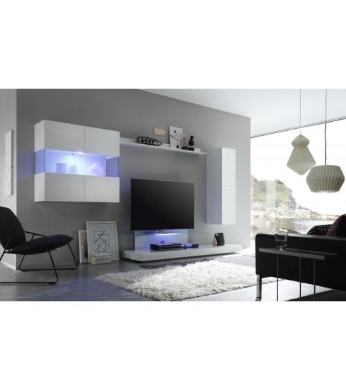 Ensemble meuble tv CESANO Blanc 340 cm