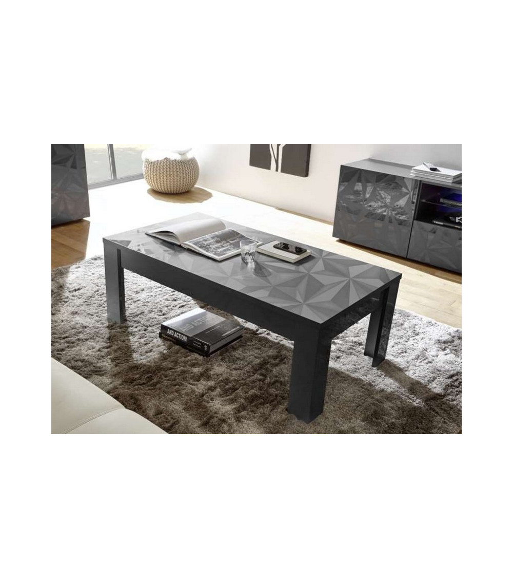 Table basse LUTHER 122x45x65 cm anthracite