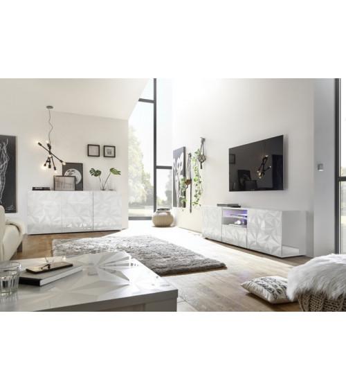 Salon complet Luther 3 éléments blanc