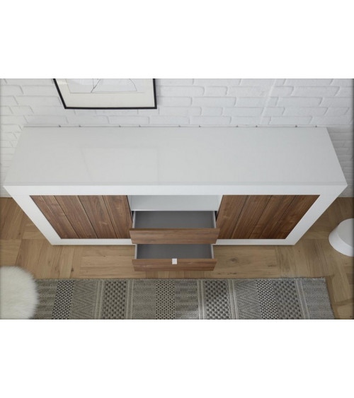 Buffet 2 portes 2 tiroirs SAMANTHA 184x86 cm noyer