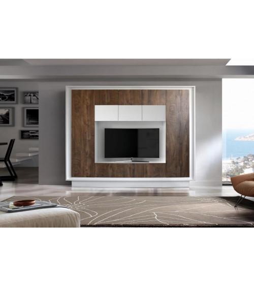 Ensemble meuble tv CIELO cognac 240 cm