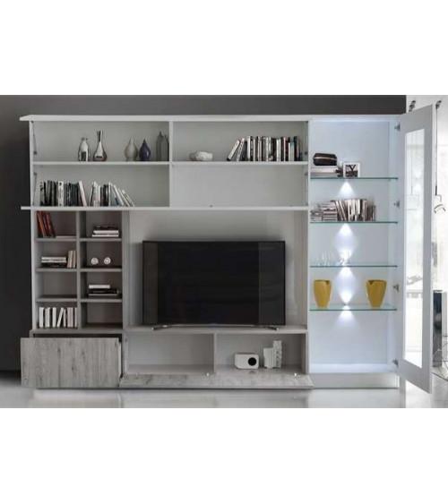 Ensemble meuble TV LINO gris 280 cm